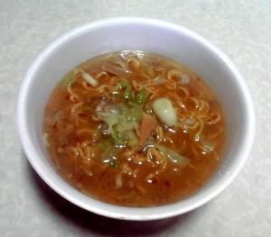 革麺 芳醇味噌らぁ麺(できあがり)