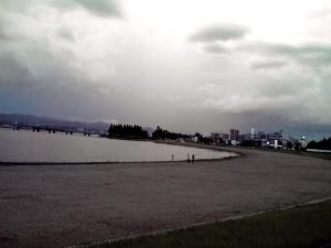 琵琶湖(サンシャインビーチの親子)