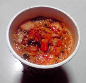 とんがらし麺 激辛海鮮味(できあがり)