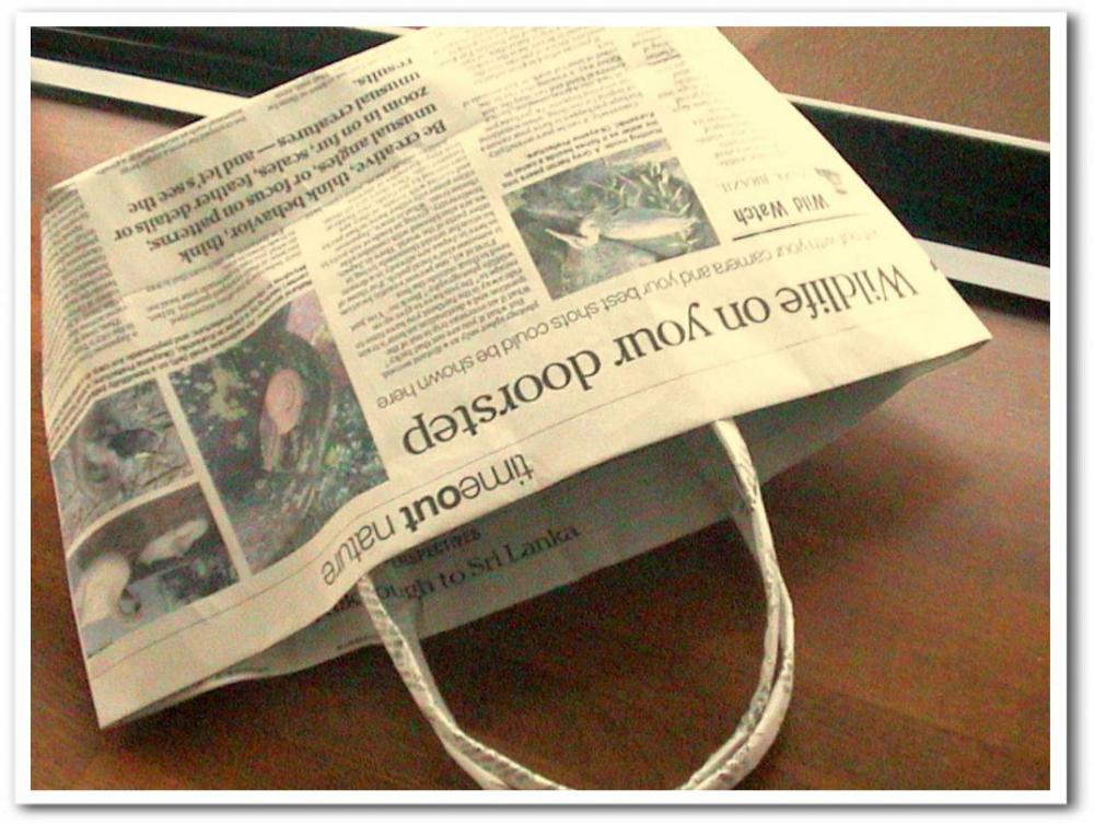折り方 紙の箱 折り方 : 新聞エコバックの作り方』の ...