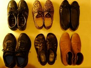 かろうじて残した靴