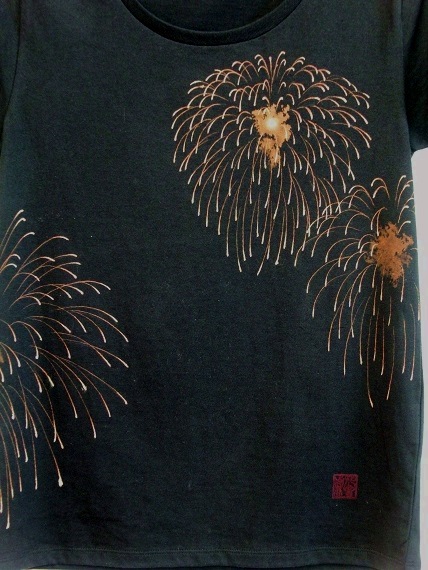 手描き 花火Tシャツ 2013 (3)