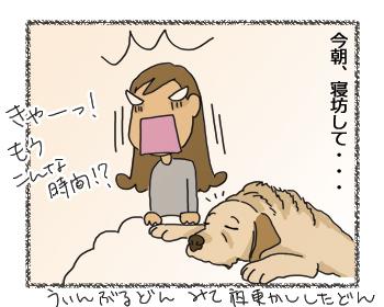 羊の国のラブラドール絵日記シニア!!「あまちゃん?」4コマ1