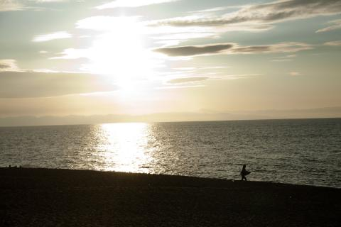 2011 砂浜 夕焼け 13