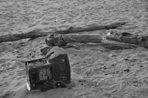 2011 砂浜 夕焼け 2