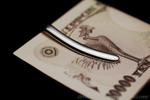 BELFIORE シルバーマネークリップ 一万円札