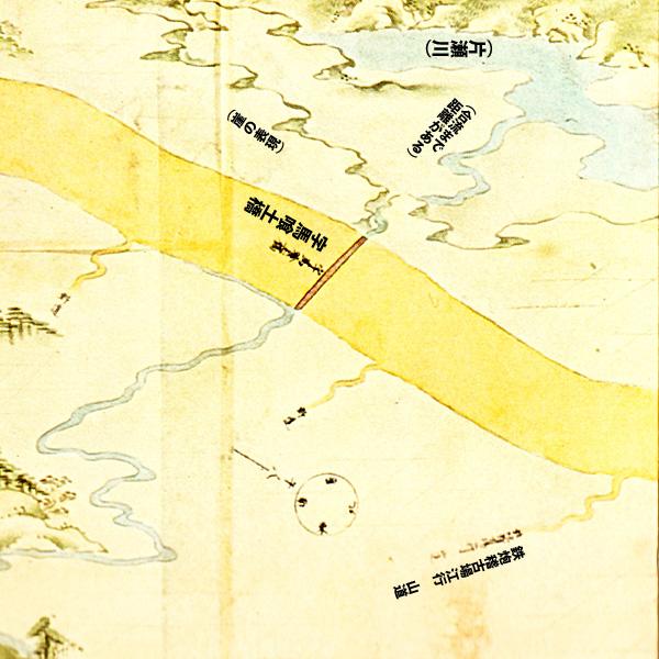 江島道見取絵図:馬喰橋付近