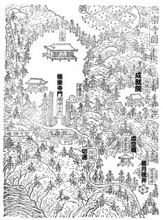 新編鎌倉志:極楽寺図