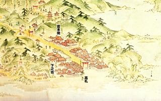 江島道見取絵図:岩本院付近