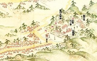 江島道見取絵図:龍口寺付近