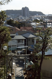 江島道:上諏訪神社本殿前より遠方を眺める