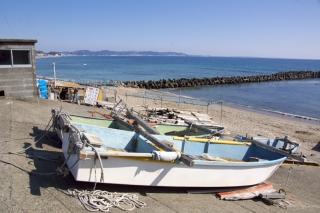 江島道:小動の漁船