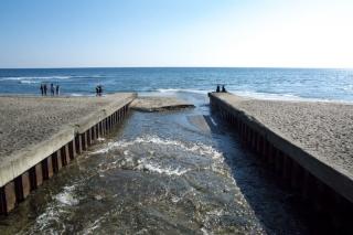 江島道:行合川河口