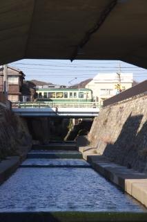 江島道:行合川上流の様子