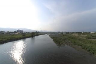 旧東海道:酒匂橋より上流を望む