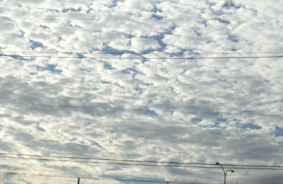 今朝の空。