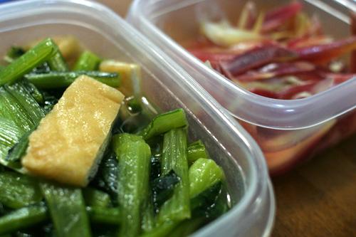 小松菜と薄揚げの煮物。