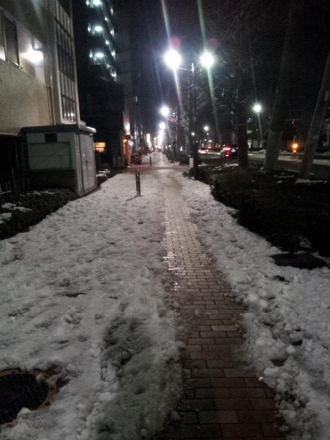 雪上ランニング