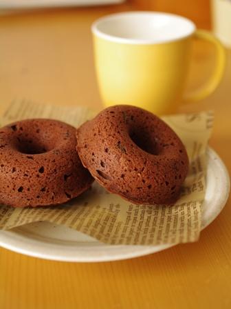 チョコレートの焼きドーナツ01