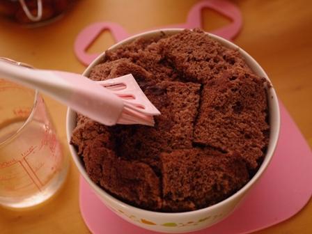 ガナッシュチョコレートでつくるオトナのとろけるドームケーキ09