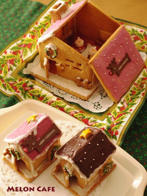 ヘクセンハウスお菓子の家窓と家具つきサンタのドールハウス07a
