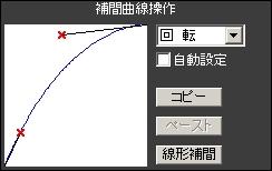 カメラ補間曲線:回転