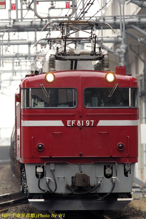 EF8197号機先頭の安中号