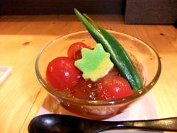 トマトの柚子ゼリー和え