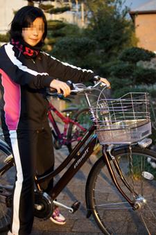 春から中学。自転車通学~