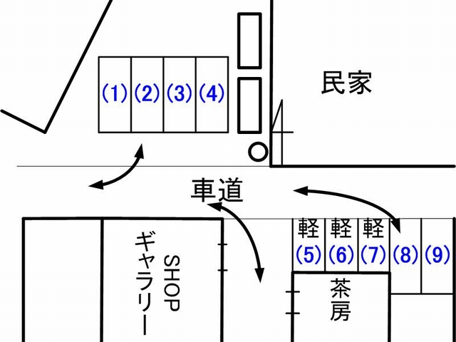 白竹駐車場見取り図