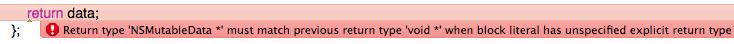 エラーメッセージ return type must match