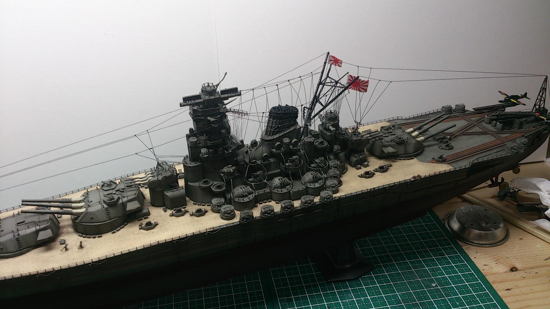 空中線張り 戦艦大和完成 目指せ百艦