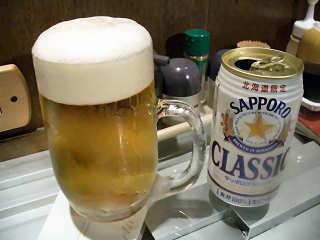 北海道限定発売ビール「サッポロ・クラシック」@竹宗