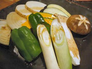 焼野菜盛合せ@虎龍