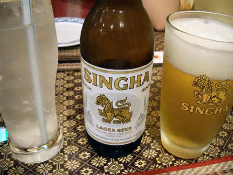 シンハービール+ココナッツジュース@TAWAN THAI