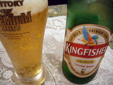 インドビール「キングフィッシャー」@ガンジス