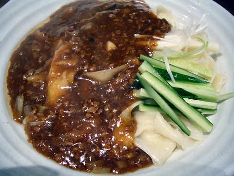 炸醤麺(ジャージャーメン)@王子西安鍋貼館