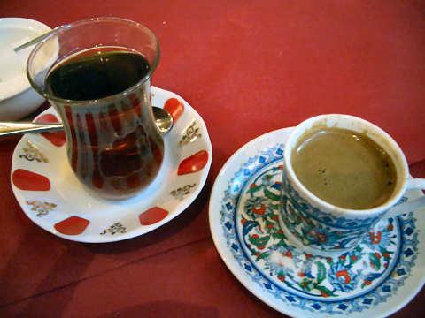 トルコチャイー+トルココーヒー@イスタンブール・コナック