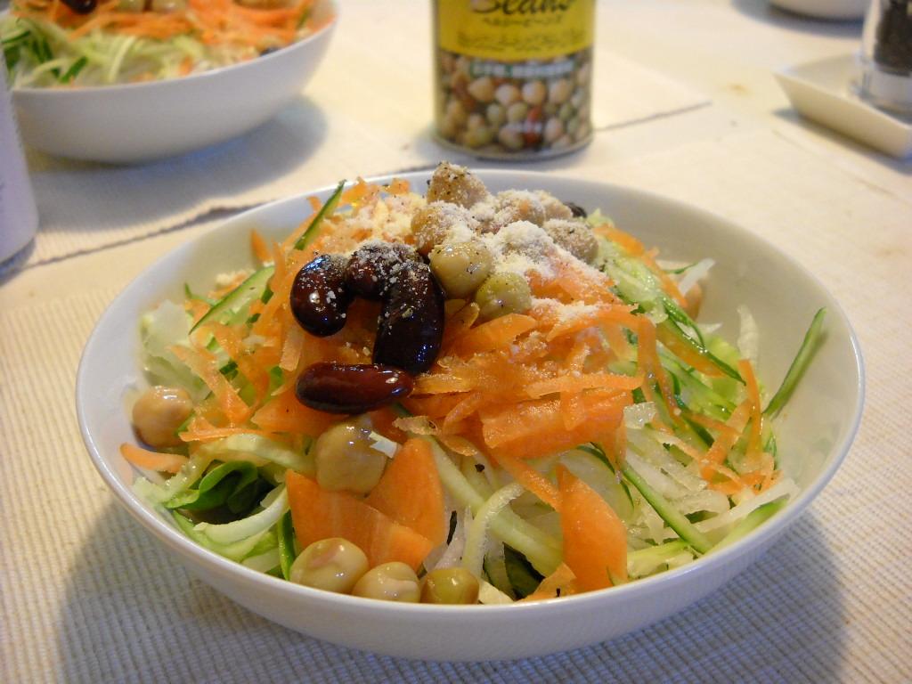 豆のせサラダ