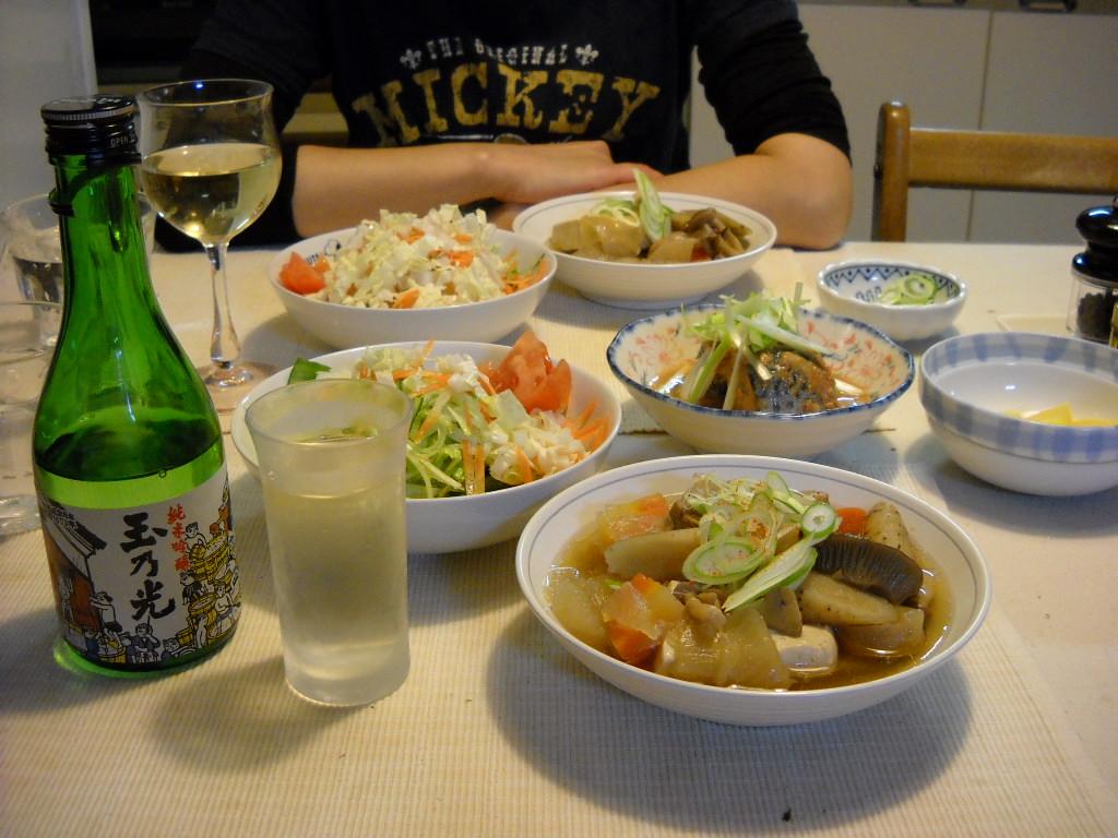 肉豆腐と玉の光
