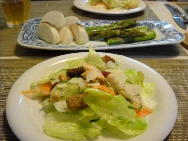 サラダと焼き野菜