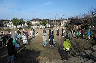 若松八幡公園での出発式
