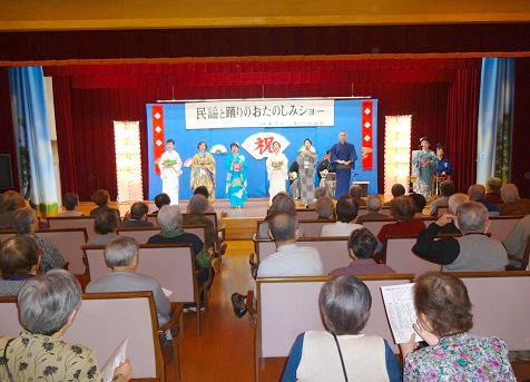 田上民謡教室で指導されています民謡会の皆さんです。