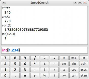 SpeedCrunch Ubuntu 電卓