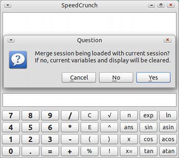 SpeedCrunch Ubuntu 電卓 保存した履歴の読み込み