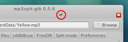 Mp3Splt-gtk Ubuntu MP3 切り取り 保存