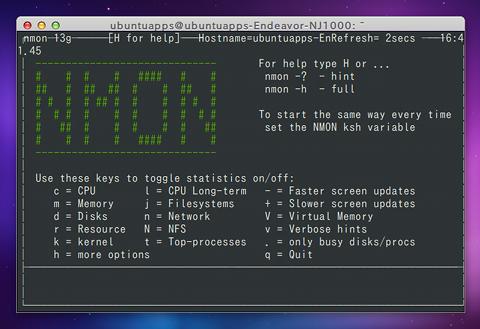 nmon for Linux Ubuntu システムモニタ