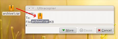 Ultracopier Ubuntu ファイルコピー 使い方
