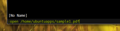 zathura Ubuntu PDFビューア 軽い PDFを開く