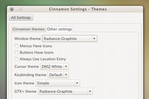 Simple Icon Theme Ubuntu アイコンテーマ Cinnamonに適用